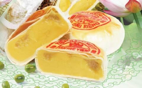 bánh pía đậu xanh sầu riêng Tân Huê Viên