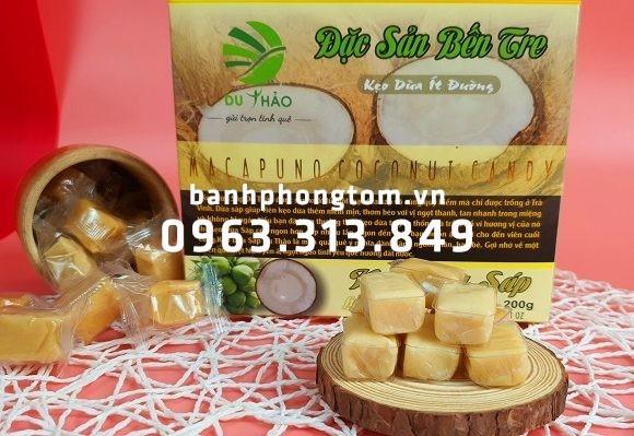 Thức quà quý giá với đặc sản kẹo dừa sáp Bến Tre chính gốc